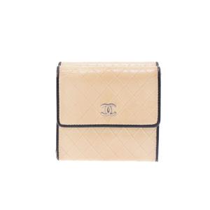 シャネル(Chanel) ビコローレ レザー 財布 ブラック,アイボリー