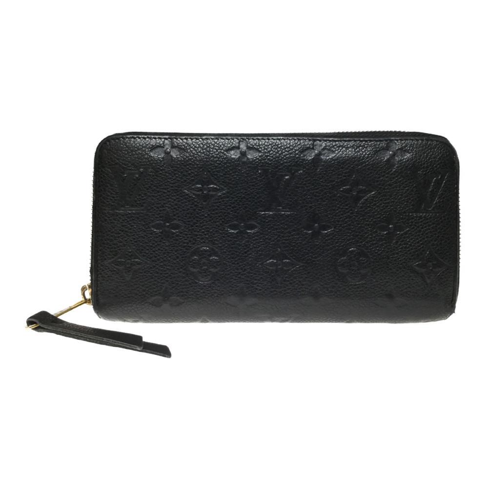 ルイ・ヴィトン(Louis Vuitton) モノグラムアンプラント M60571 ジッピー・ウォレット レディース 長財布(二つ折り) ノワール