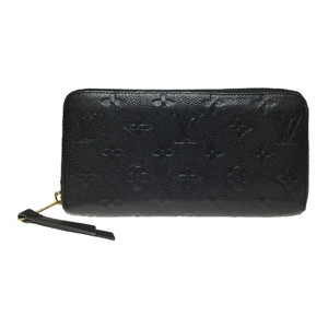 Auth Louis Vuitton Monogram Empreinte Zippy Wallet M60571 Women's Long Wallet (bi-fold) Noir