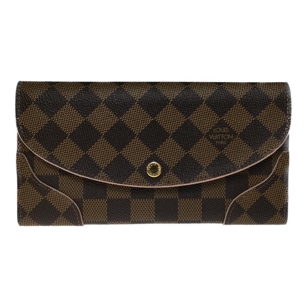 ルイ・ヴィトン(Louis Vuitton) ポルトフォイユ・カイサ N61227 ダミエキャンバス 長財布(二つ折り) ローズバレリーヌ
