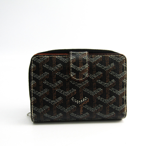 Goyard TUILERIES Unisex Canvas,Leather Wallet (bi-fold) Black,Brown