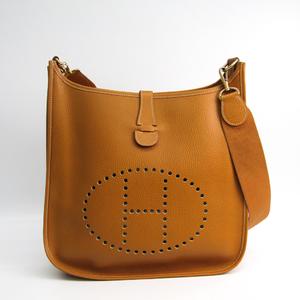 Hermes Evelyne I GM Women's Ardennes Leather Shoulder Bag Natural Sable