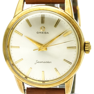 Omega Seamaster Mechanical Gold Plated Men's Dress Watch 14390