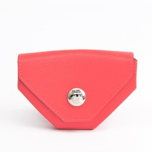Hermes LE 24 Women's Epsom Leather Coin Purse/coin Case Rose Jaipur