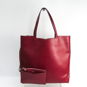 Cartier Happy Birthday L1001932 Women's Leather Tote Bag Bordeaux