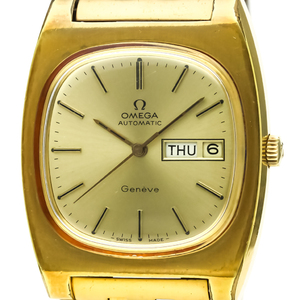 Omega Geneve Automatic Gold Plated Men's Dress Watch 166.0188
