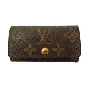 Auth Louis Vuitton Key Case Monogram Multicles 4 M62631