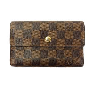 Auth Louis Vuitton Wallet Damier Portefeuille Alexandra N63067