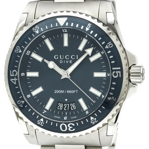 Gucci Dive Quartz Stainless Steel Men's Sports Watch YA136203