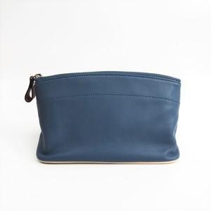 Hermes TOHUBOHU MM Women's Leather Pouch Blue,Orange