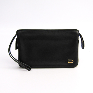 Delvaux Unisex Leather Wallet (bi-fold) Black