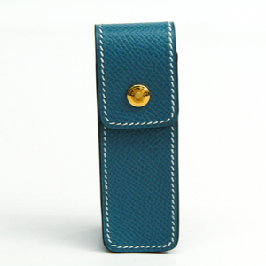 Hermes Leather Gum Holder Blue Jean Euchy chewing gum