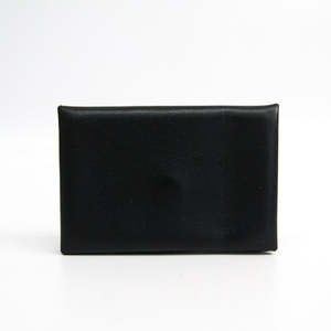 Hermes Calvi Swift Leather Business Card Case Black,Navy