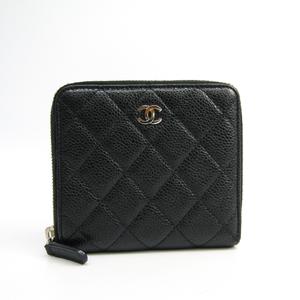 シャネル(Chanel) レディース  キャビアスキン 財布(二つ折り) ブラック