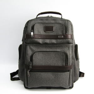 Tumi 26578EG2 Men's PVC,Leather Backpack Gray,Dark Brown