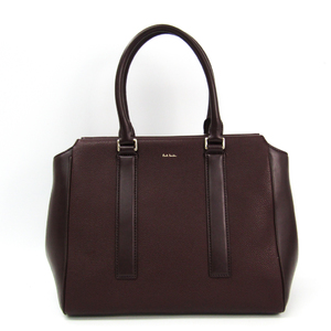 Paul Smith PWN951 Women's Leather Handbag Bordeaux Brown