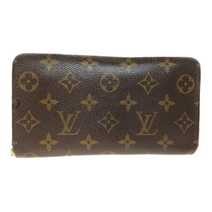 Auth Louis Vuitton Monogram M61727 porto mone zip Long Wallet (bi-fold)