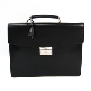 Prada Men's Leather Briefcase Black