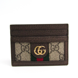 Gucci Ophidia GG Card Case 523159 GG Supreme Leather/Webbing Card Case Brown