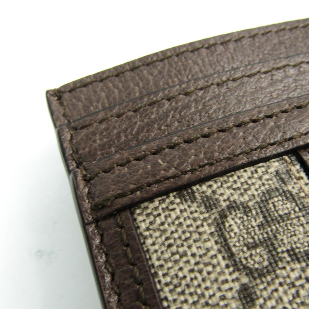 17081d31da64 Gucci Ophidia GG Card Case 523159 GG Supreme Leather/Webbing Card ...