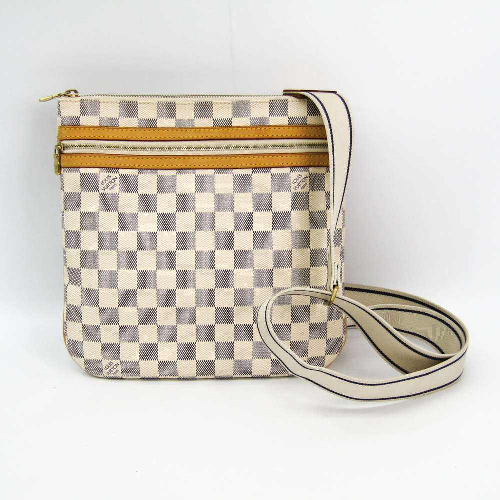 946688f83e7e Louis Vuitton Damier Pochette Bosphore N51112 Women s Shoulder Bag Azur