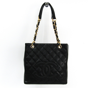 Chanel Caviar Skin Petit Shopping Tote PST A20994 Women's Leather Tote Bag Black