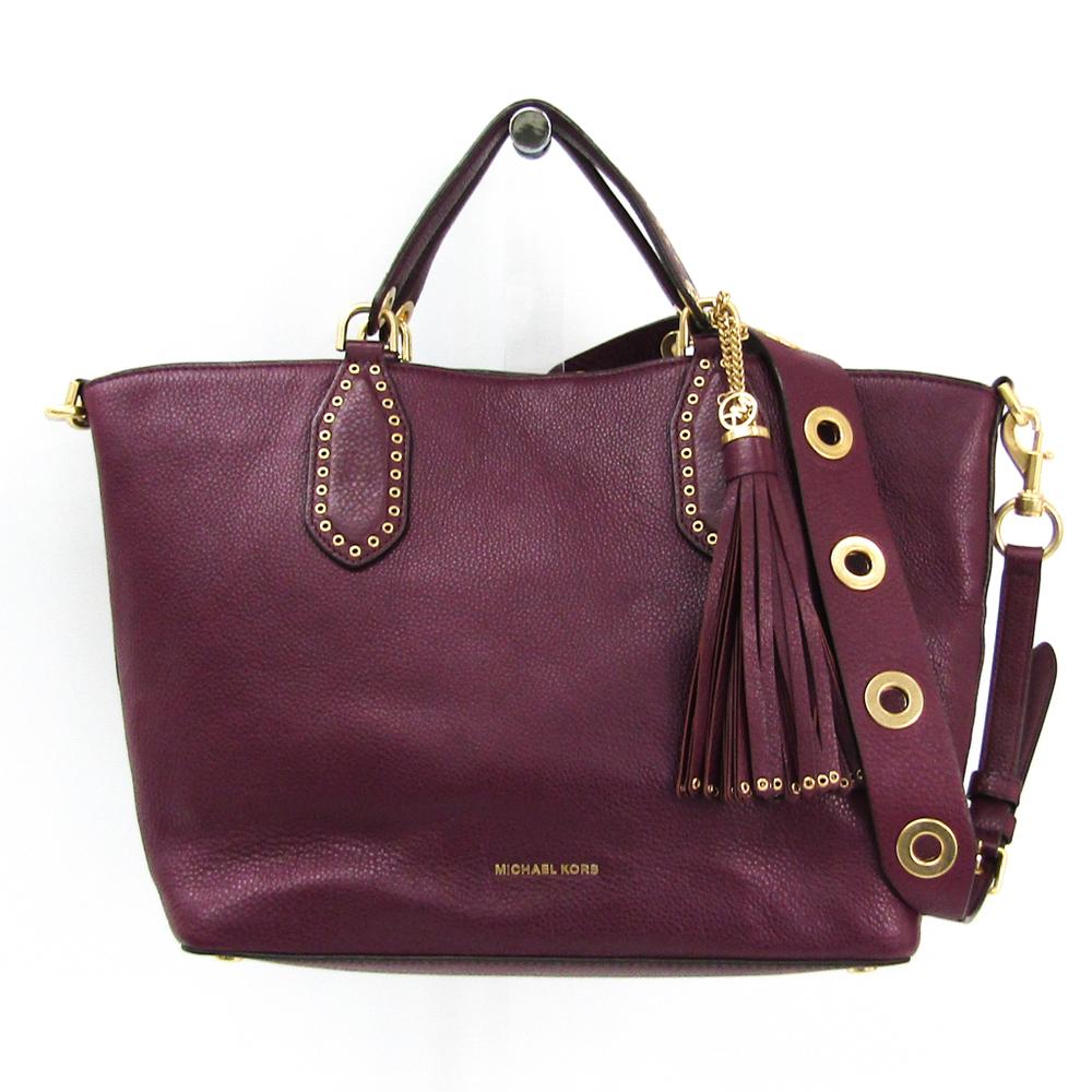 e271f106c1e6 Michael Kors Brooklyn Large Leather Satchel 30F6ABNS3L Women s Leather Tote  Bag