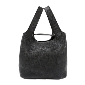 Auth Hermes Picotin Rock PM Hand bag □P Black