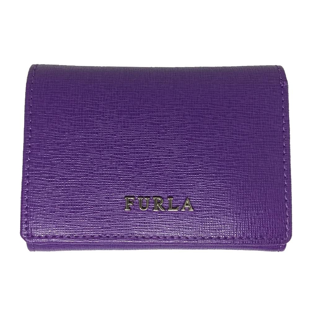 Auth Furla 992622 Wallet (tri-fold) Purple Double  Hooks