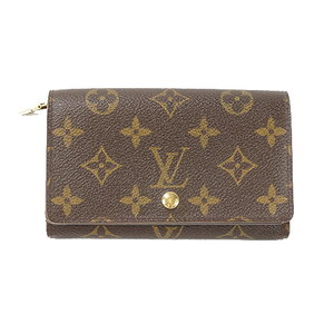 Auth Louis Vuitton Wallet Monogram Porte Monnaie BilletsTresor M61730