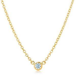 ティファニー(Tiffany) ダイヤモンド バイ ザ ヤード K18イエローゴールド(K18YG) ダイヤモンド レディース カジュアル ネックレスチェーン カラット/0.05 (イエローゴールド(YG))