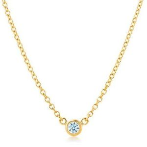 Tiffany Diamonds By The Yard Yellow Gold (18K) Diamond Women's Casual Chain Necklace Carat/0.05 (Yellow Gold)