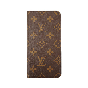 Auth Louis Vuitton iPhone Case Monogram IPHONE  7+ & 8+ Folio M63401 Marron