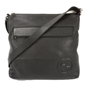 Auth Gucci Shoulder Bag Soho Black Silver