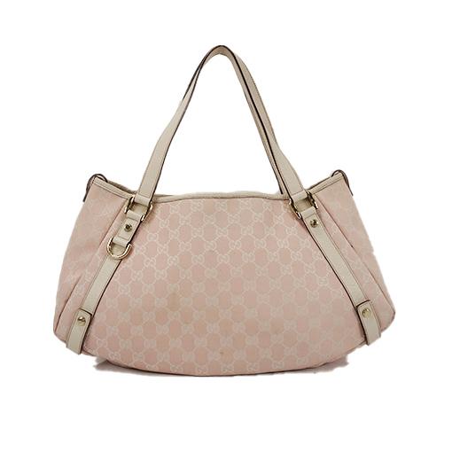 cfa212154c7 Auth Gucci Tote Bag GG Canvas Pink Gold