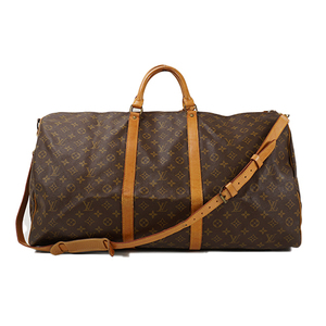 Auth Louis Vuitton Boston Bag Monogram Keepall Bandoliere 60 M41412
