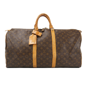 Auth Louis Vuitton Boston Bag Monogram Keepall 55 M41424