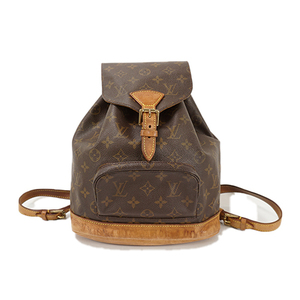 Auth Louis Vuitton Backpack Monogram Montsouris MM M51136