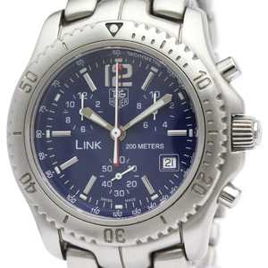 TAGHEUER Link Chronograph Steel Quartz Mens Watch CT1110