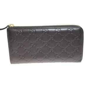 グッチ(Gucci) 332747 グッチシマ L字 レザー 長財布(二つ折り) ダークブラウン