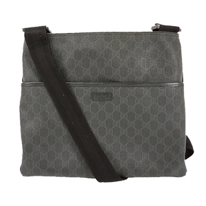 Auth Gucci Shoulder GG Plus 162904 PVC Gray