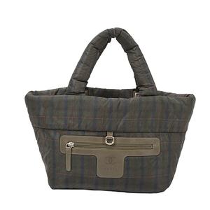 Auth Chanel Handbag Coco Cocoon Green