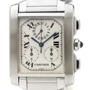 Cartier Tank Francaise Quartz Stainless Steel Men's Dress Watch W51001Q3