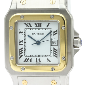 Cartier Santos Galbee Automatic Stainless Steel,Yellow Gold (18K) Men's Dress Watch -