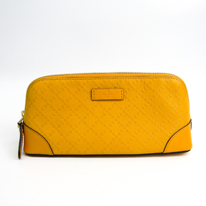 Gucci Diamante 354503 Women's Leather Pouch Yellow