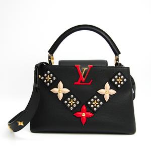 Louis Vuitton Taurillon Capucines PM M51384 Women's Handbag Noir