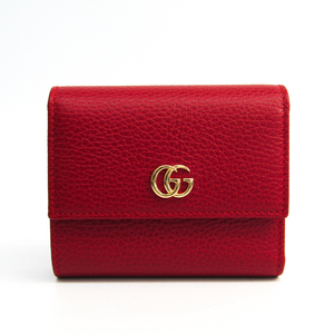 Gucci GG Marmont 546584 Women's Leather Wallet (bi-fold) Red