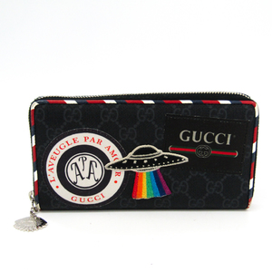Gucci Night Courrier 496342 Women's GG Supreme Long Wallet (bi-fold) Black,Multi-color
