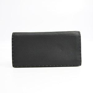 フェンディ(Fendi) セレリア 7M0186 ユニセックス レザー 長財布(二つ折り) グレー