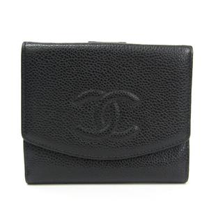 シャネル(Chanel) A13496 レディース キャビアスキン 財布(二つ折り) ブラック